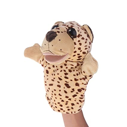 TOYMYTOY Adorable Peluches Mano Puppet Leopard Zoo Amigos Animales Educativos Puppets Muñecas Cartoon Leopard