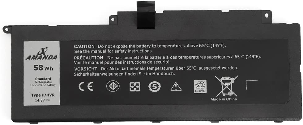 Amanda F7HVR Battery 14.8V 58WH Replacement for Dell Inspiron 17 7737 15 7537 Series G4YJM 062VNH T2T3J Y1FGD