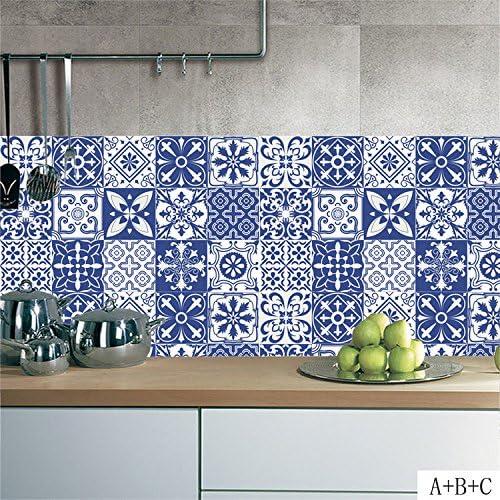 Amazon Com Amazingwall Estilo Mediterraneo Azulejos Pegatina Flor