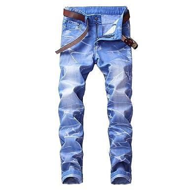 d3e3fca9d60 Dihope Homme Vintage Rétro Jeans Pantalon de Travail Militaire Cargo Pants  Casual Trousers en Denim sans