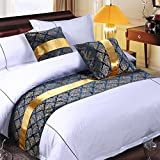 Y-Step Double Layers Towel Bed Runner Bedding Bedroom Fit Single Double King Size