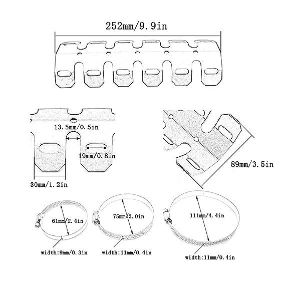 Amazon Com 1 Piece 25cm Universal Aluminum Motorcycle Exhaust