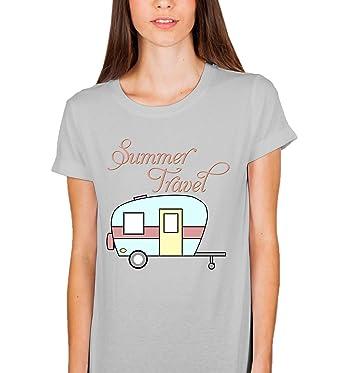 8982c8857c98de Summer Travel Adventure Camping Car_003614 T-Shirt Birthday for Her SM  Woman Grey