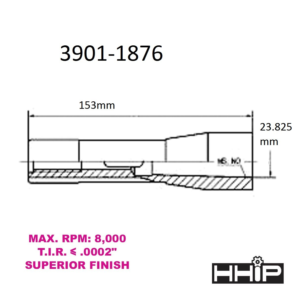 Pro Series by HHIP 3901-1878 Pro MT4 Inside to R8 Outside Sleeve