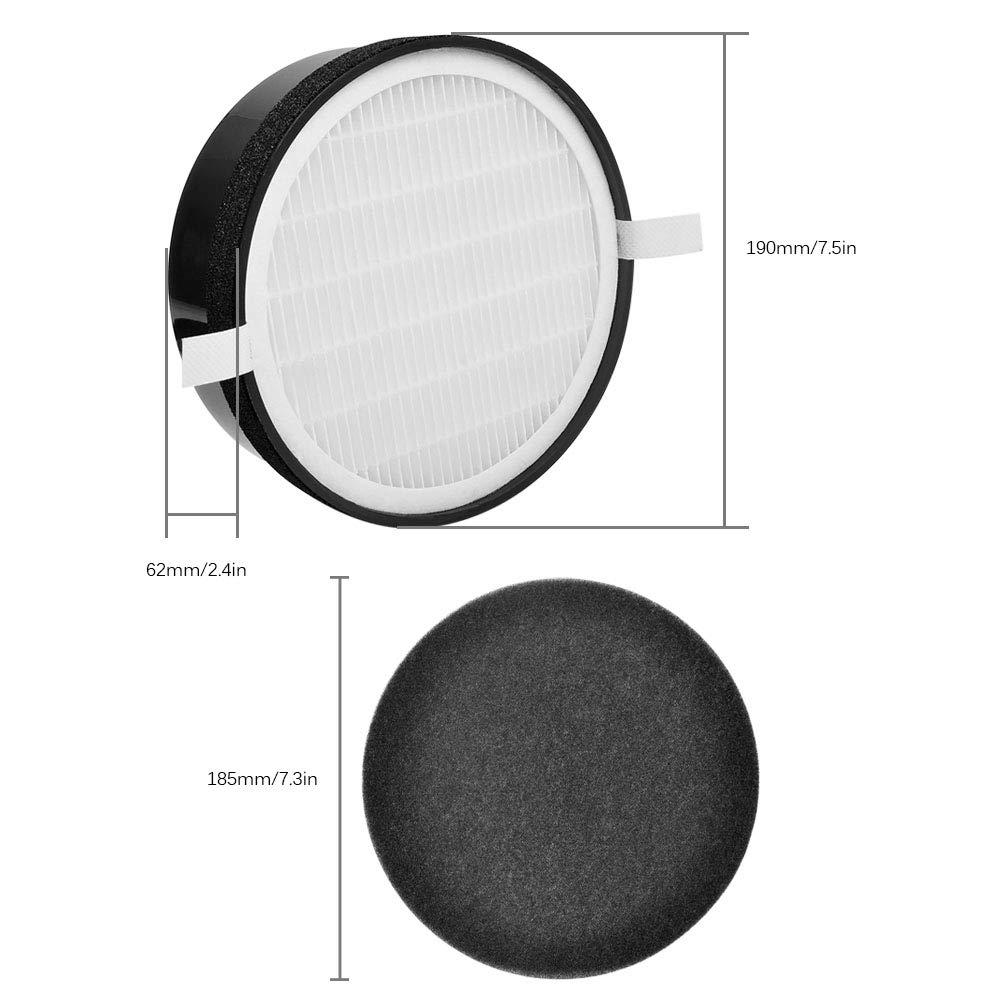 KEEPOW Kit de filtres HEPA et Charbon Actif pour purificateur dair Levoit LV-H132