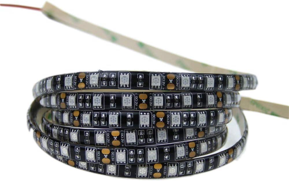 5050 Smd Uv Purple Ultraviolet 395-405Nm 300Leds geführt Flexible Strip Seil Waterproof Black Pcb Licht 16.4Ft Lamp 12V Dc Alarmpore(Tm)