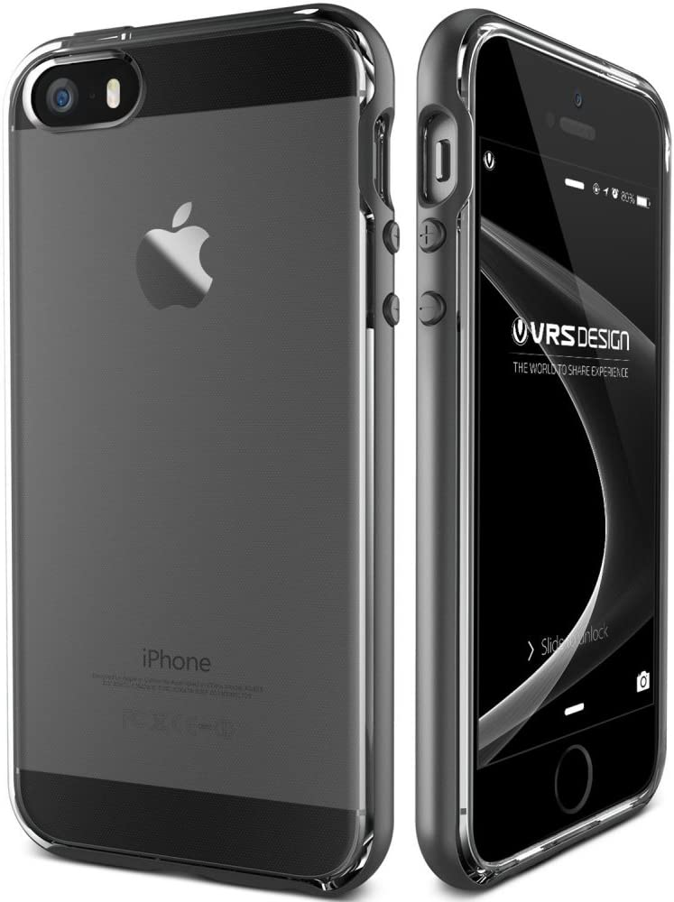 iPhone SE Case, VRS Design [Crystal Bumper][Steel Silver] - [Clear Cover][Military Grade Protection] For Apple iPhone SE