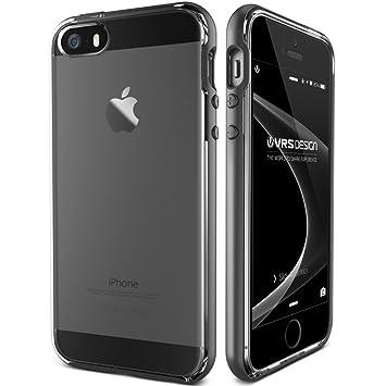 7e791a5edd5 Funda para iPhone SE, 5S, 5 VRS Design®, de color plata oscuro, con ...