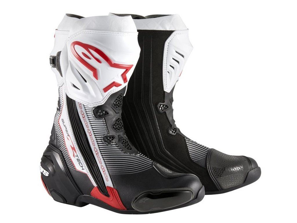 Alpinestars Supertech R Motorcycle Racing Boot White /& Red Ride Recommended