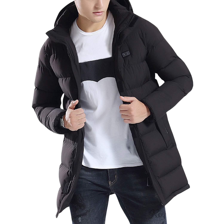 Paket Nicht enthalten Power Bank Sidiou Group USB Jacke Elektrische Beheizte Jacken Herren Beheizte Jacke Beheizte Kleidung Winter W/ärme Leichte Heizung Kleidung Hoodie Daunenjacken Mantel