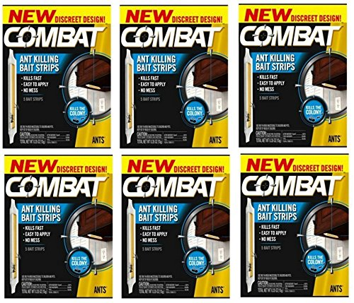Combat Ant Killing Bait Strips, 5 Count (6 Pack) (Best Way To Get Rid Of Nightmares)