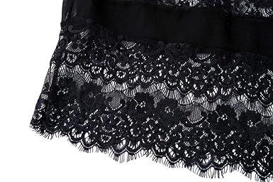 Overdose Encaje De Las Mujeres Empalme Hollow Chiffon Kimono Cardigan Best Sell Vacaciones Blusa Tops Top: Amazon.es: Ropa y accesorios