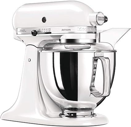 KitchenAid Artisan - Robot de cocina (Color blanco, Acero inoxidable, 50/60 Hz): Amazon.es: Hogar