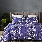 Purple Duvet Cover Vaulia Lightweight Microfiber Duvet Cover Set, Printed Pattern Design, Purple Color - Queen Size