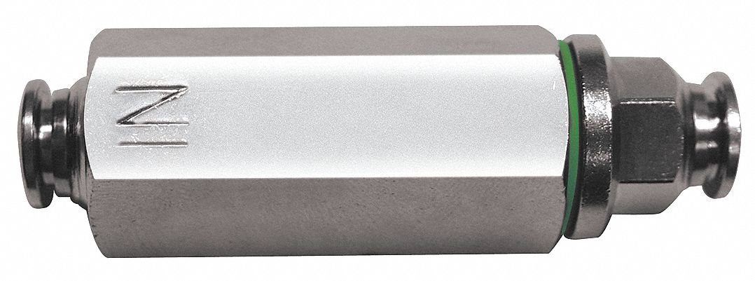 AIGNEP USA 82670VM-06 Inline Filter, Metal Ring with FKM (Viton) Seal, 3/8'' Tube (Nickel Plated Brass)