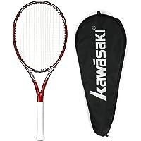 Kawasaki 川崎 中性 全碳素 单网拍 入门级网球拍 (穿线) Craze 460(亚马逊自营商品, 由供应商配送)