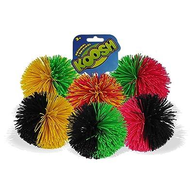 Koosh Ball Soft Active Fun Toy - 1x Random Coloured Koosh Ball: Toys & Games
