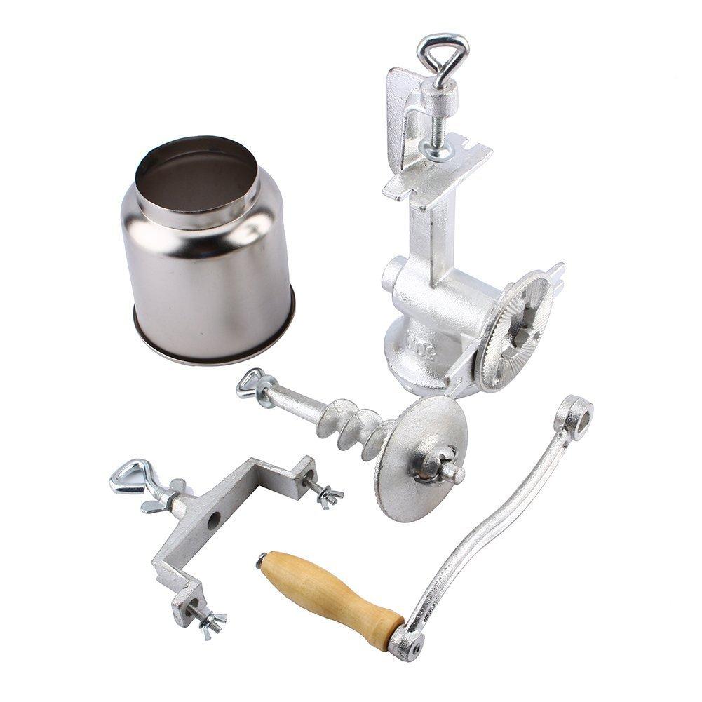 5L Handgetreidem/ühle Kornm/ühle Reparierbar und abnehmbarer Base mit Bolt Knob Handkaffeem/ühle f/ür getreide kaffee Korn Malen(nicht die Schraube zu eng einstellen)