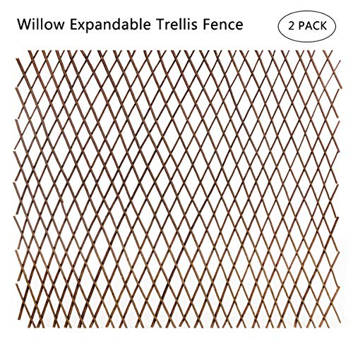 DOEWORKS Willow Expandable Trellis Fence for Backdrop Garden Backyard Home Decorations - 2PACK