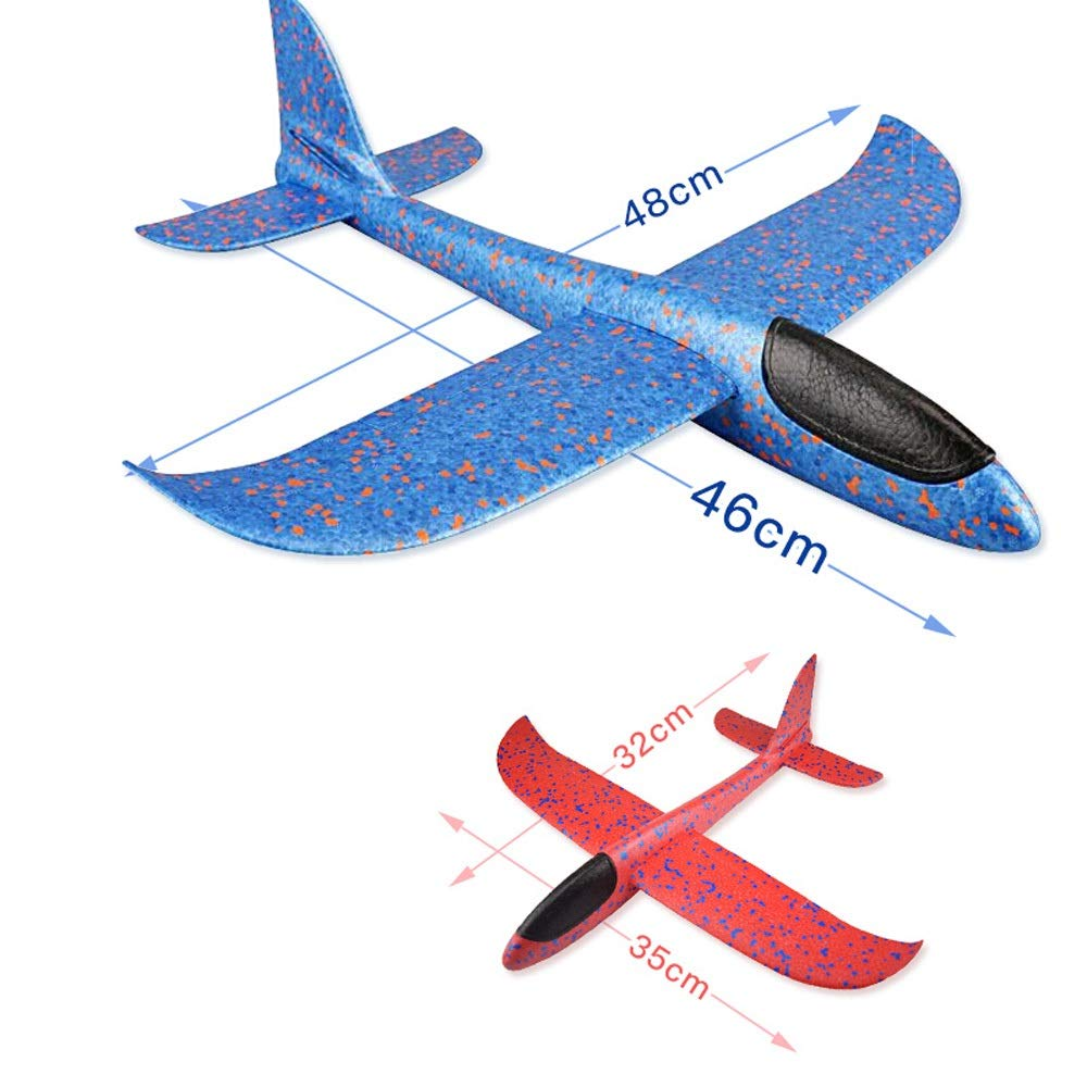 Kikioo Hand Launch Glider Planes Airplane, Flying Glider Planes Throwing Foam Airplane Mode Durable Aircraft For Kids Outdoor Sport Toys 3 Year Old Boy,Outdoor Sport Game Toys, Birthday Party Blue by Kikioo (Image #4)