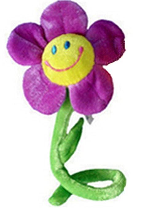 philna12 Bendable girasol cortina de flores de peluche para decoración (morado)