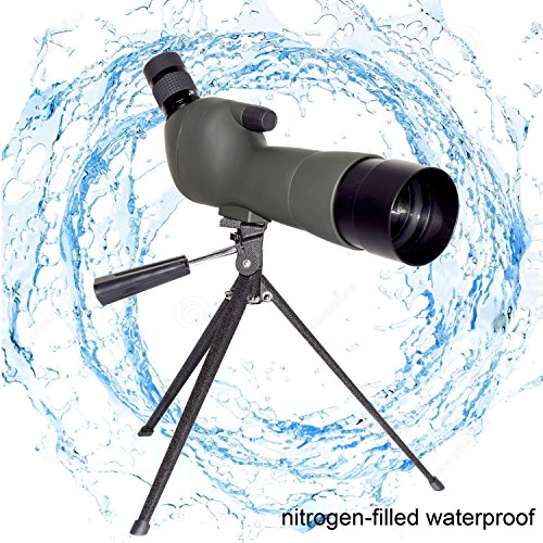 Marmot Spotting Scope 20-60x60AE High Magnification Monocular BK-7 Prism Rubber Eyepiece Telescope with Tabletop Tripod for Bird Watching Observing Outdoor - Telescope Tripod Tabletop
