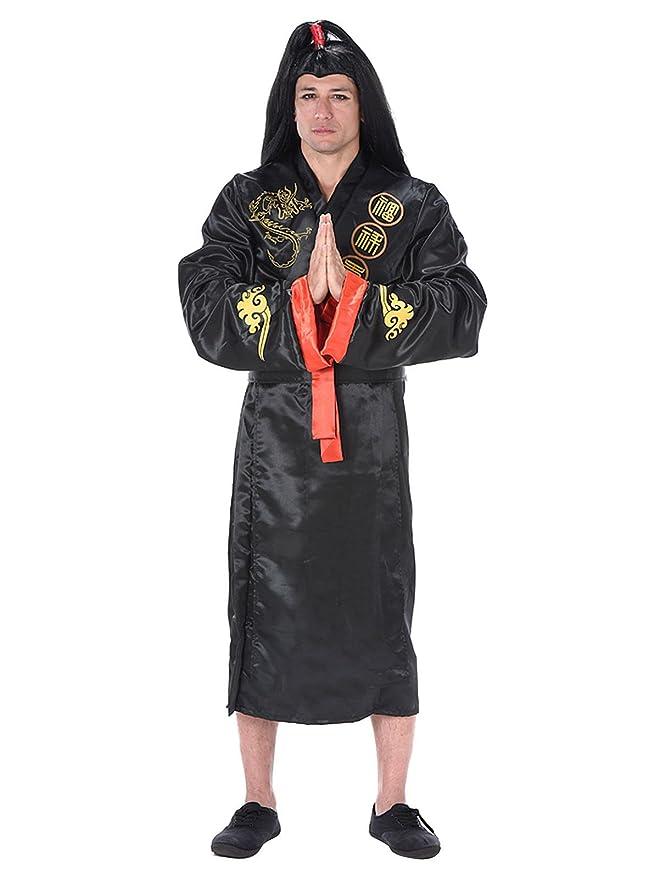 Generique - Disfraz Samurai Adulto Negro y Dorado L: Amazon.es ...