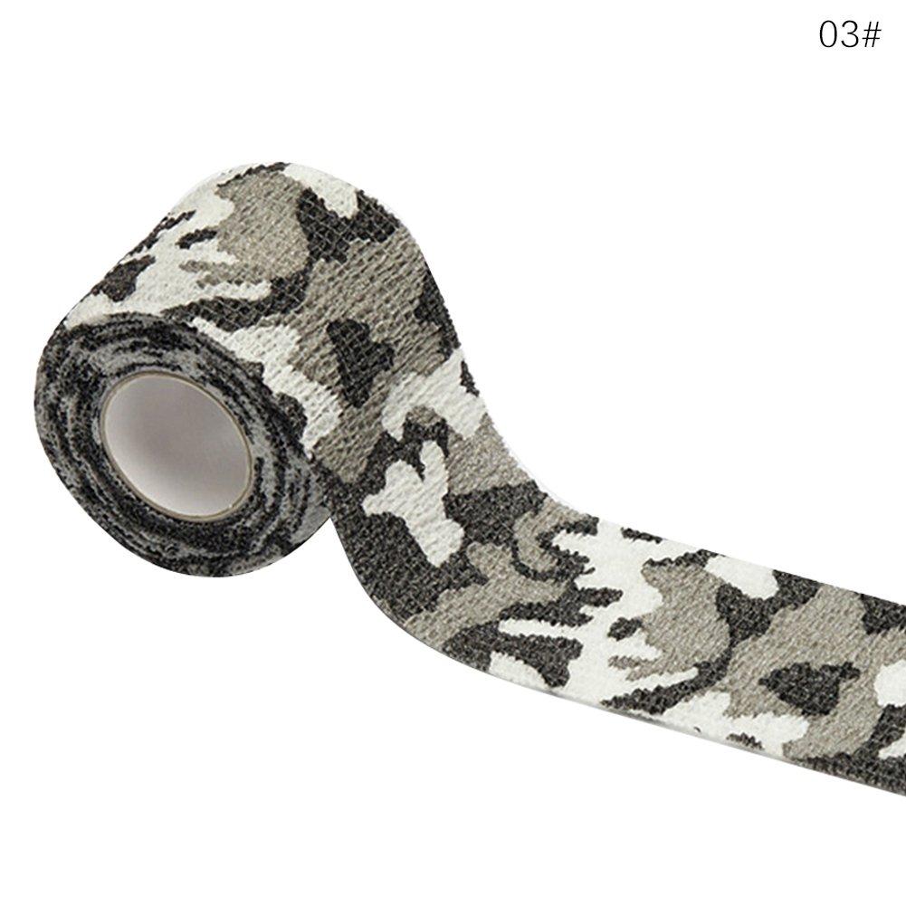 WEIHUIMEI 15cm x 4.5m camouflage in tessuto non tessuto autoadesivo Cohesive Wrap bendaggio elastico traspirante stretch Athletic tape, 1, 15CM X 4.5M