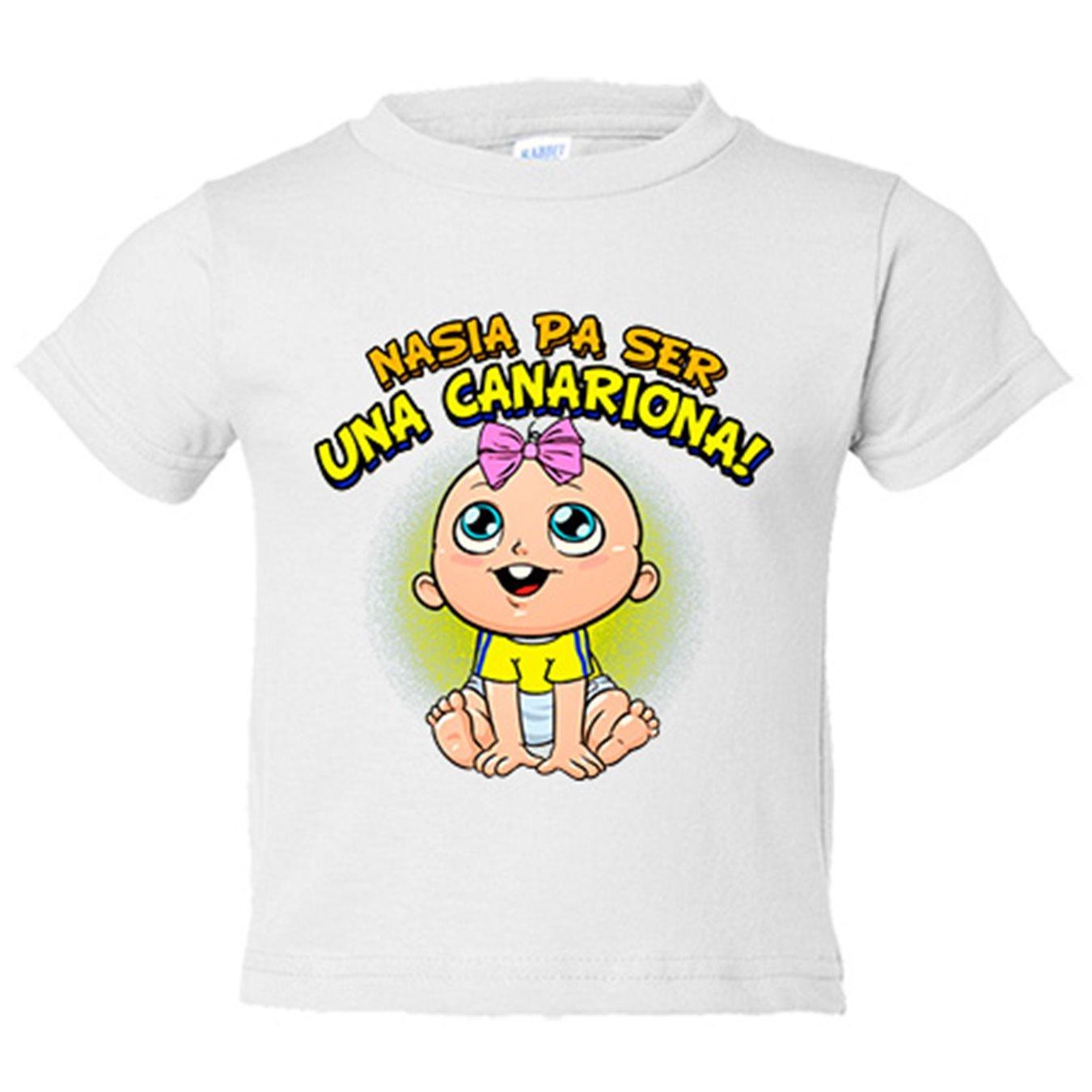 Camiseta niño nacida para ser una Canariona Las Palmas fútbol - Amarillo, 3-4 años: Amazon.es: Bebé