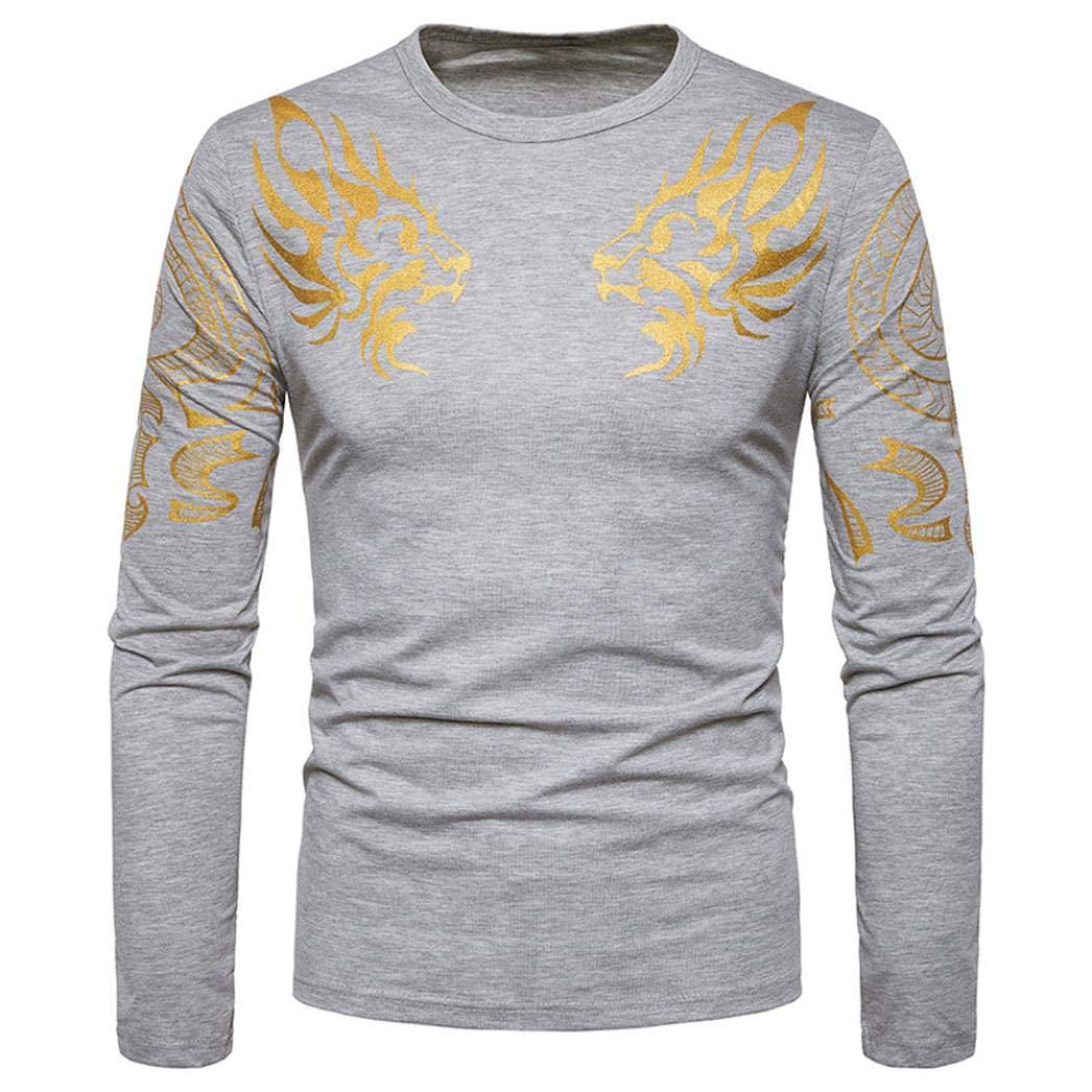 Kobay Mode Tee-Shirt /à Manches Longues Hommes