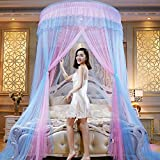 Mosquito Net Court Style Bed Canopy For Children Fly Insect Protection Indoor Decorative Height 270cm Top Diameter 1.5m Hem 13m