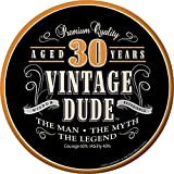 30th Vintage Dude Luncheon Plate