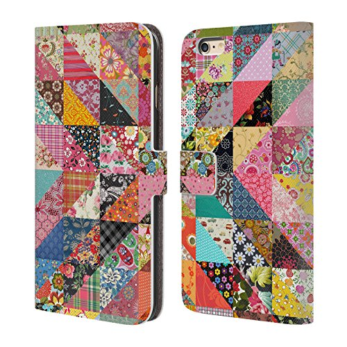 Official Rachel Caldwell Quilt Patterns Leather Book Wallet Case Cover For Apple iPhone 6 Plus / 6s Plus