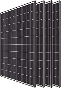 Renogy 4pcs 320 Watt Monocrystalline Solar Panel System Kit Off Grid for Shed Farm, Home, Residential, Commercial House, 320W, 4 Pieces