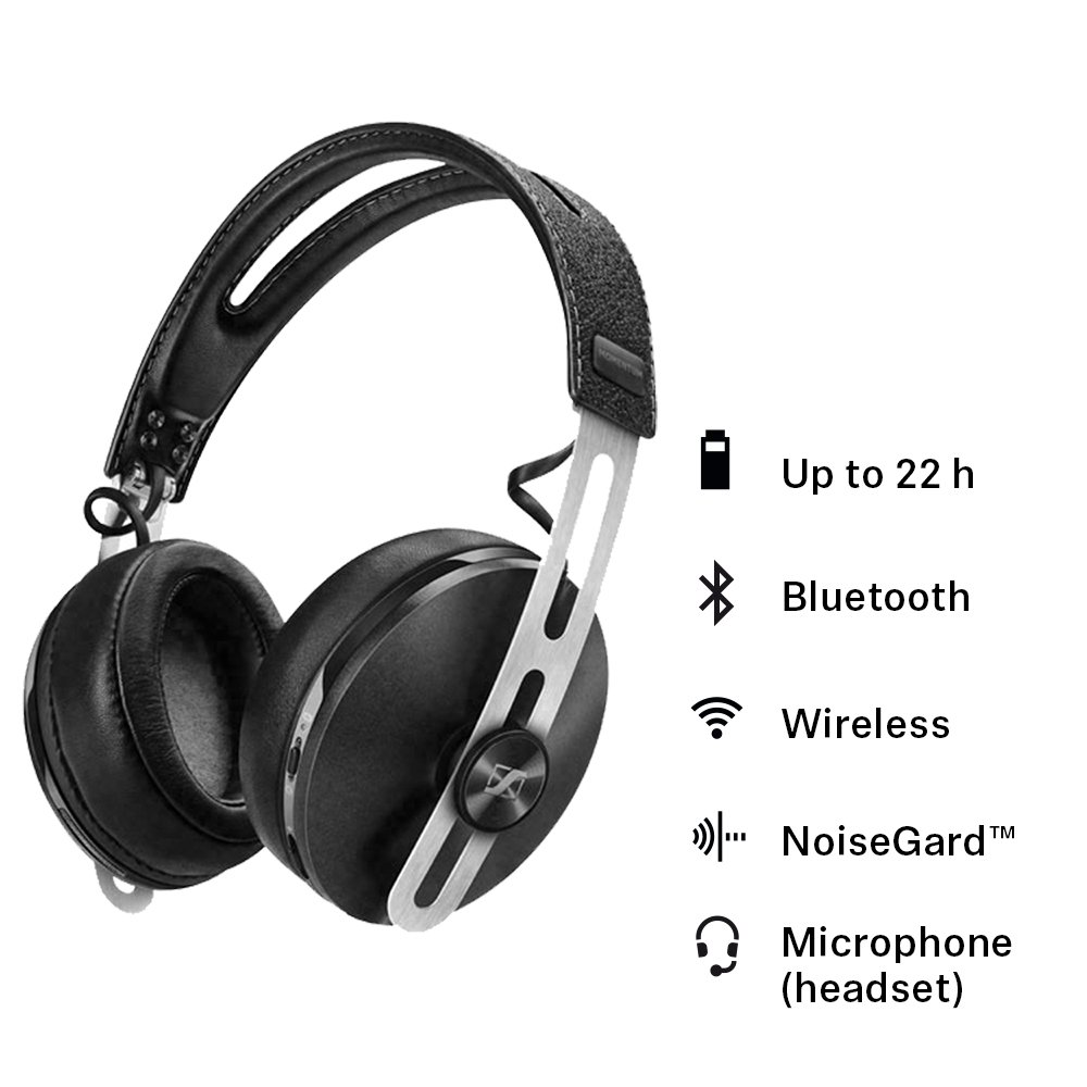 Sennheiser HD1 Wireless Over-Ear Headphones with Active Noise Cancellation – Ivory by Sennheiser
