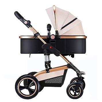 JYY Cochecito De Bebé para Recién Nacidos Y Niños Pequeños Sistema De Viaje De Respaldo Ajustable Carro De Bebé Convertible para Cuna, 0-3 Años,Khaki: ...