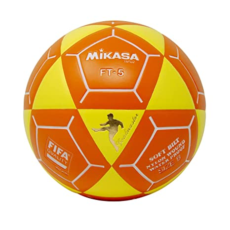 Mikasa FT5 Goal Master - Balón de fútbol, color amarillo y naranja ...