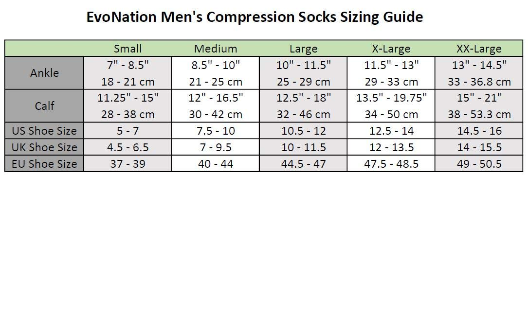 3 Pair EvoNation Men's USA Made Graduated Compression Socks 20-30 mmHg Firm Pressure Medical Quality Knee High Orthopedic Support Stockings Hose - Best Comfort Fit, Circulation, Travel (Large, Black) by EvoNation (Image #2)