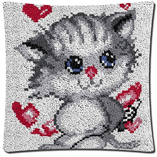 17 Modell Cushion Latch Hook Kit Pillow Mat DIY Craft Cat Cross Stitch Needlework Crocheting Cushion Embroidery BZ814 BYT Collection
