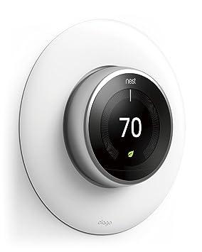 Elago Cubierta de la placa de pared para el termostato de aprendizaje de nidos Blanco mate