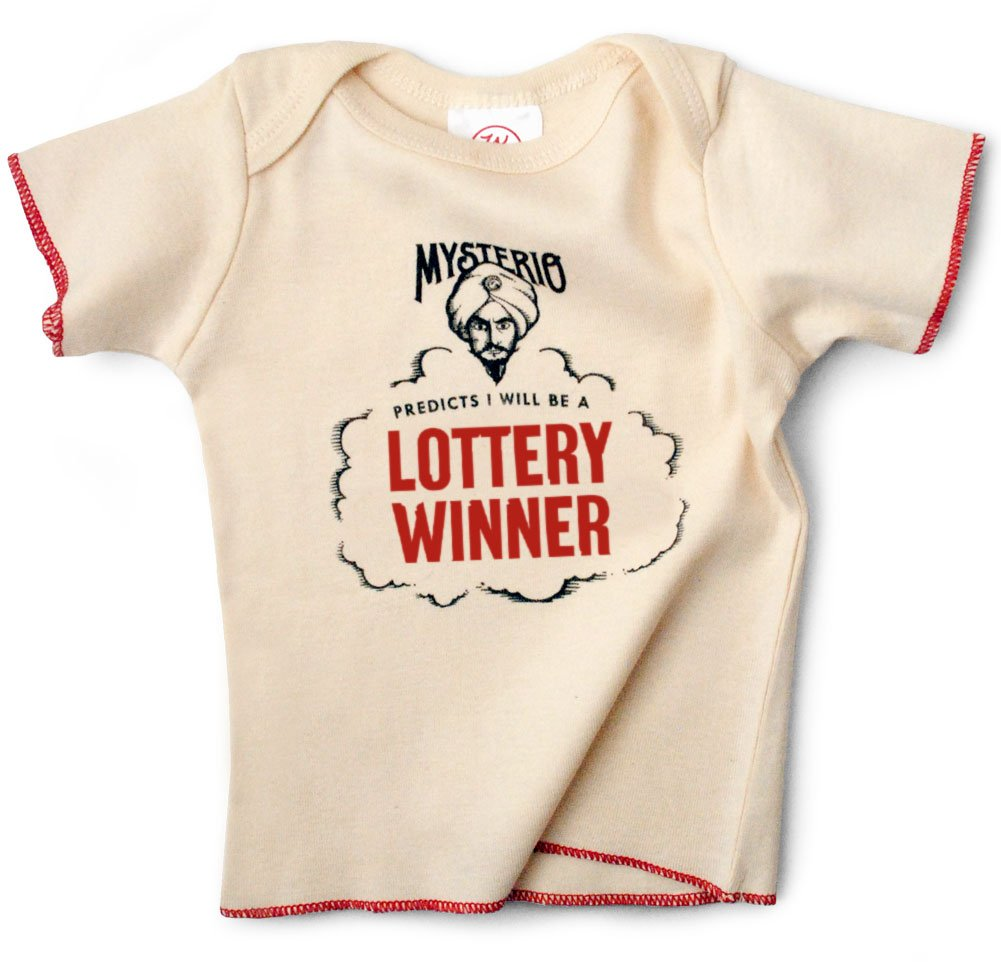 d66b2ee60 Amazon.com: Mysterio Baby Tee by Wrybaby | Predicts Your Child's Future |  Natural, 0-12M: Baby