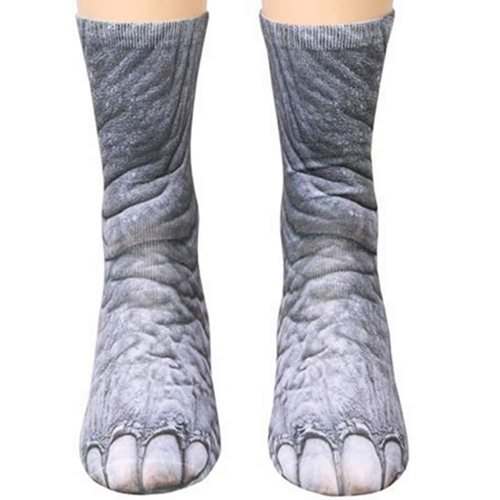 Animal Paws Socks, NDLBS Unisex Adult Novelty Animal Socks Funny Paw Crew Socks for men women