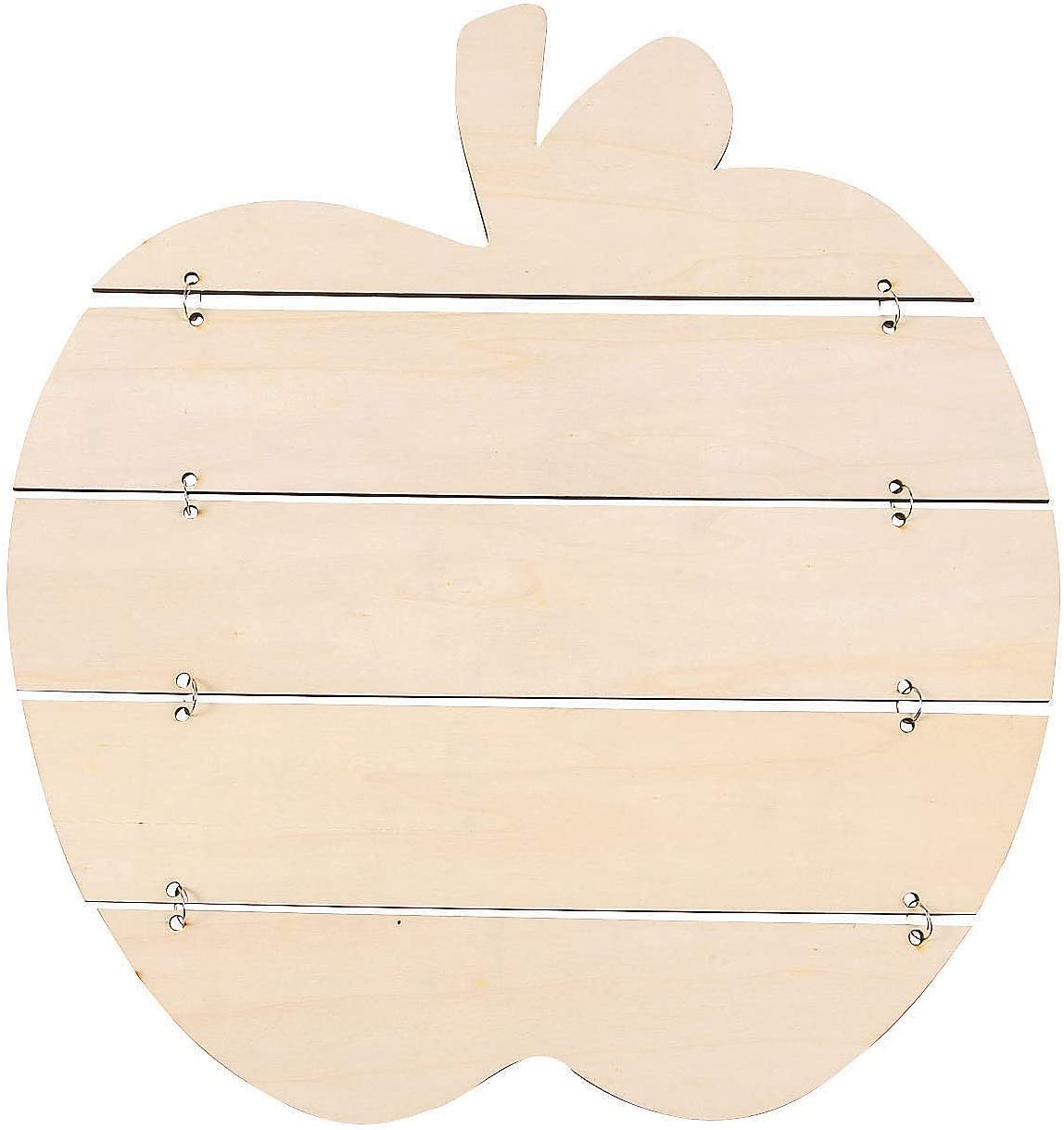 DIY Unfinished Wood Plank Apple Sign - Craft Kits - 1 Piece