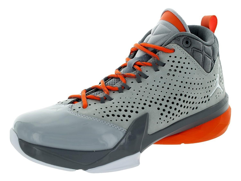 Jordan Nike Men's Flight Time 14.5 Wolf Grey/White/Dark Grey/Electric Orange Basketball Shoe 8.5 Men US B00P7QUQ6K Parent