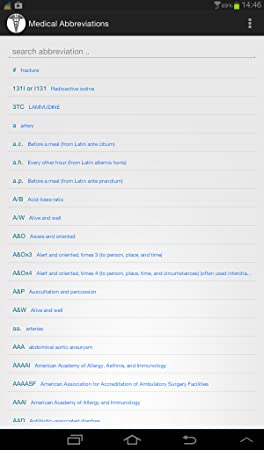 amazon com medical abbreviations appstore for android