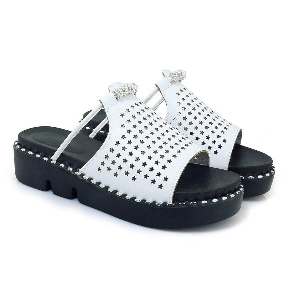Sandales Femmes, décontractées pour Femmes, Sandales Chaussures à Talons, B078ZYBF88 Pantoufles Blanc 714b651 - latesttechnology.space