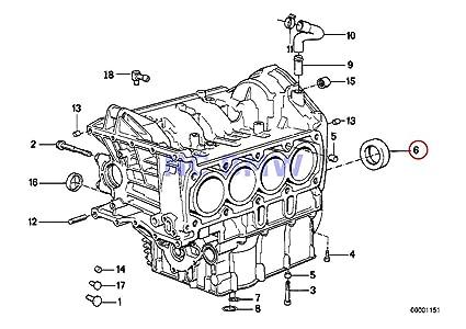 bmw genuine motorcycle engine block shaft seal 50x80x10 k1 k100rs k1100lt  k1100rs k1200lt k1200rs k1200gt k1200rs
