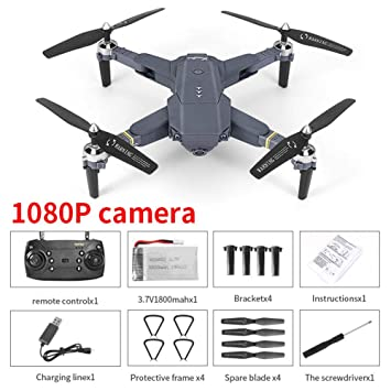 Mississ WiFi FPV Drone con 720P / 1080P HD Live Video, Plegable ...