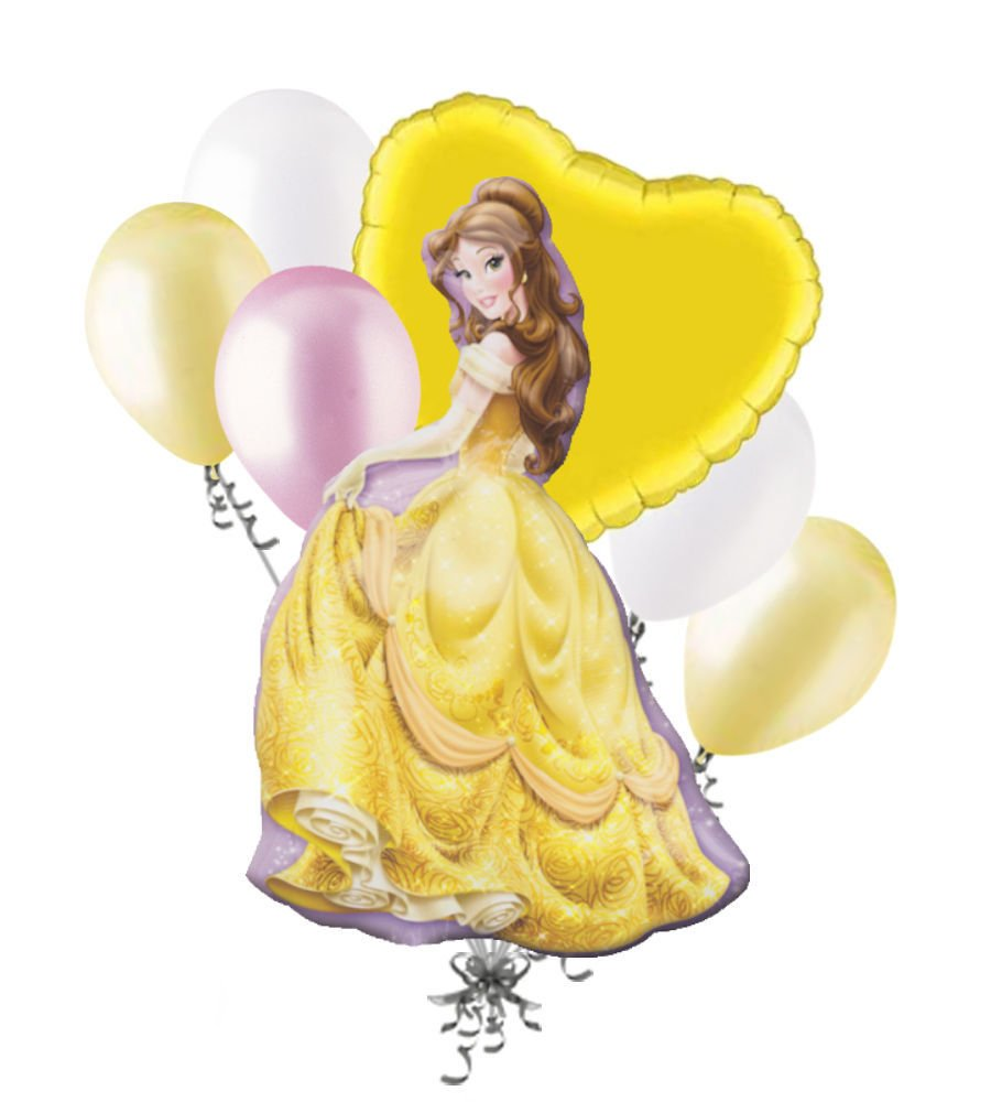 Cakeshop 12 x PRE-CUT Disney Belle Princess Stand Up Edible Cake ...