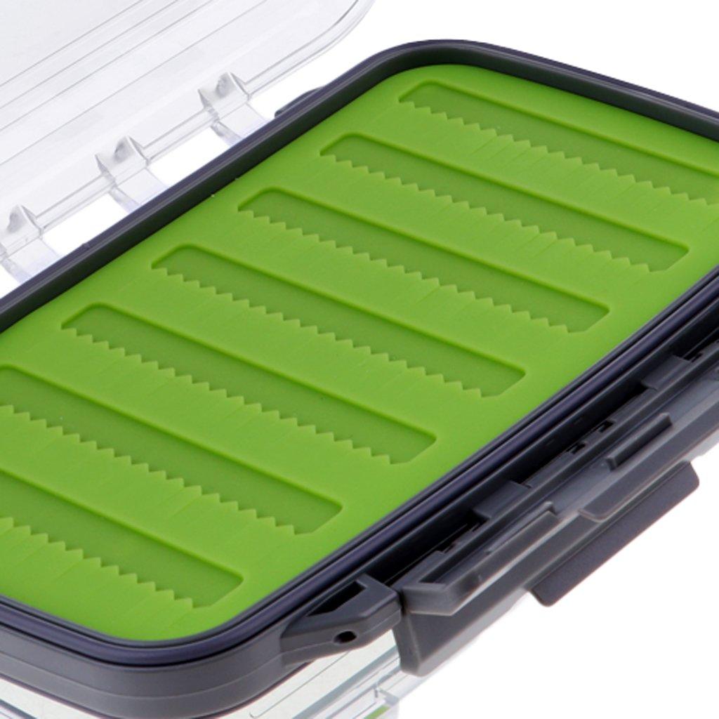 Homyl Caja Impermeable de Pesca con Mosca Inserci/ón de Silicona Almacenar Trastos